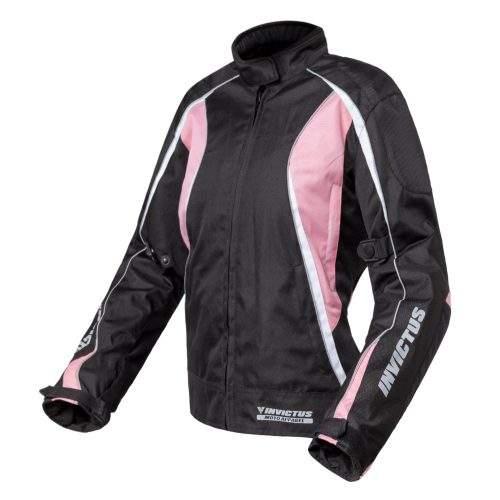 Chaqueta moto rosa