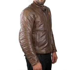 Vintage retro leather motorcycle jacket
