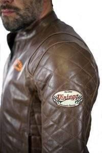 Chaqueta de cuero de moto vintage retro