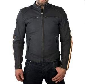 chaqueta moto de cuero cafe racer