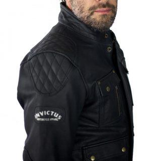 Invictus Ulises: Chaqueta de cuero de moto tres cuartos estilo cafe ...