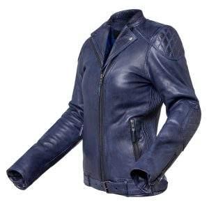 chaqueta de moto de cuero para mujer