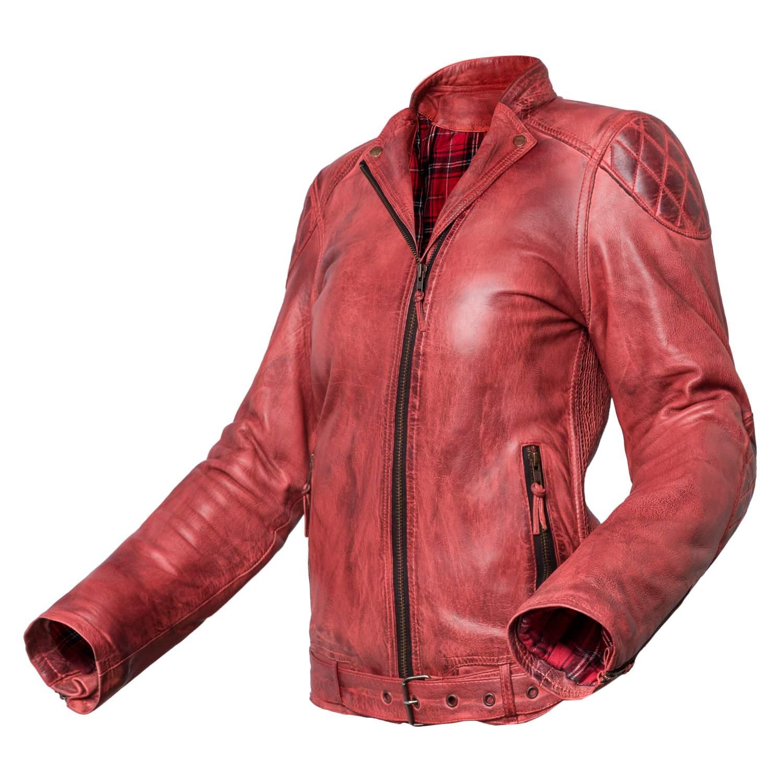 precio baratas salida online venta outlet Chaqueta de moto de cuero para mujer Invictus Electra Roja | Chaquetas de  Moto
