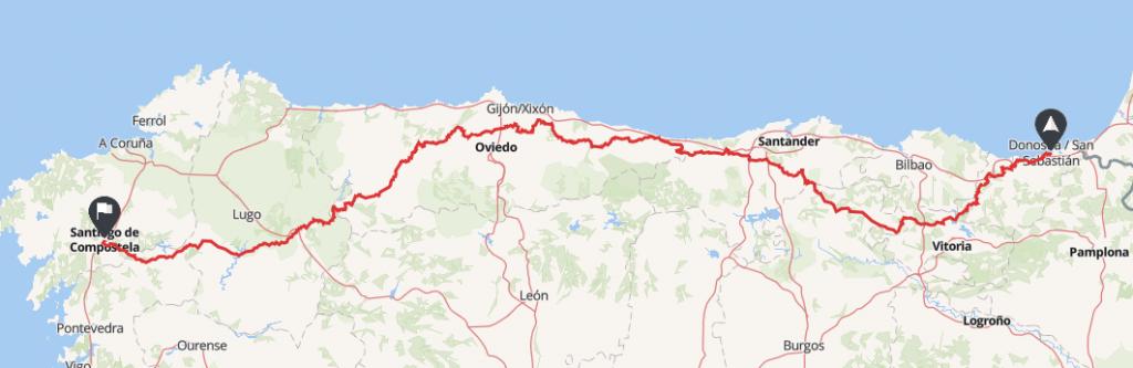 rutas moto españa san sebastian santiago de compostela