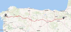 rutas moto españa camino santiago