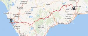 rutas moto españa cadiz y malaga